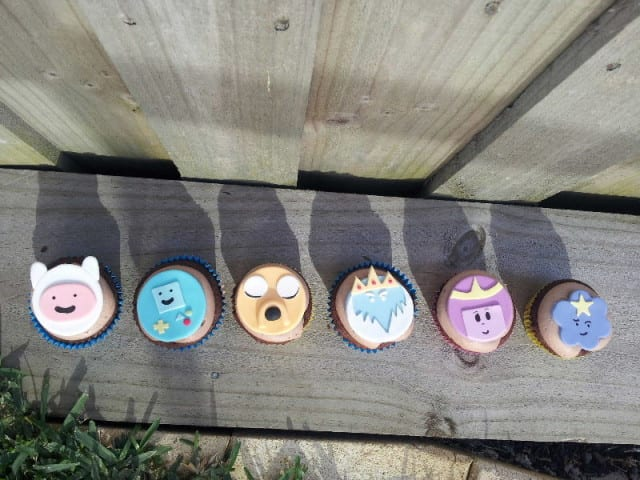 Chocolate on Chocolate Cupcakes with Adventure Time Topper