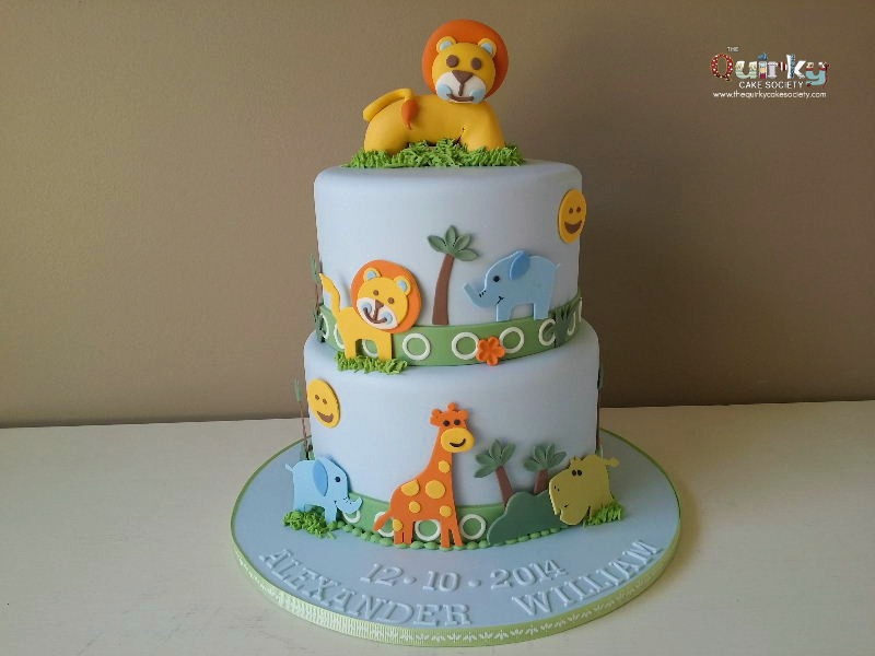 Fantastic Safari Animal Cake The Quirky Cake Society Funny Birthday Cards Online Alyptdamsfinfo