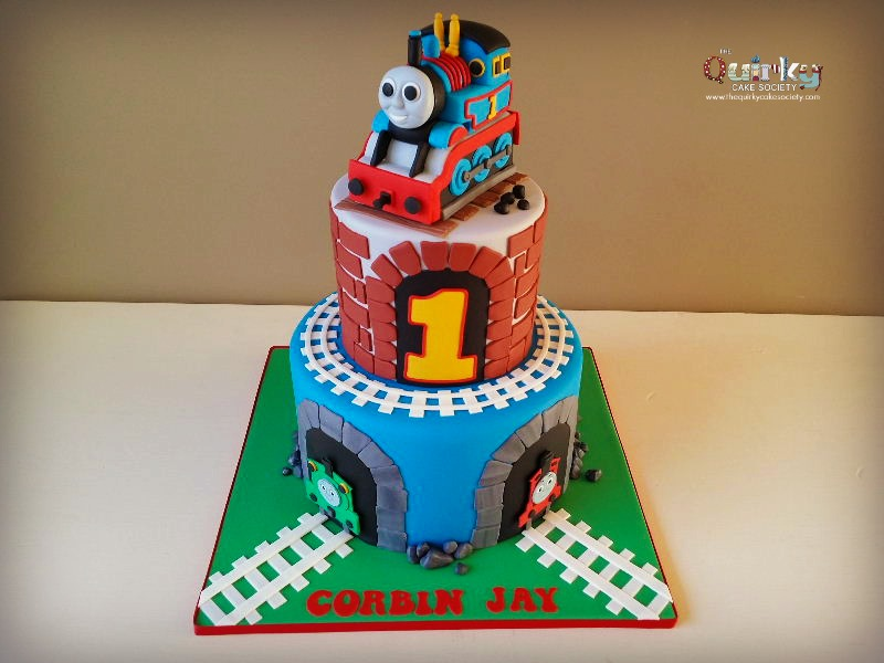 Fantastic Thomas The Tank Engine Cake The Quirky Cake Society Funny Birthday Cards Online Eattedamsfinfo