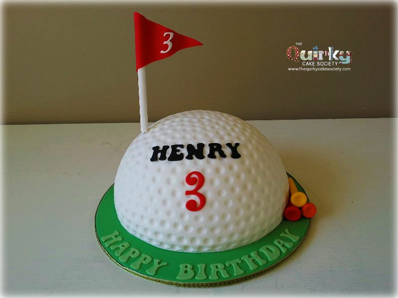 Superb Golf Ball Cake The Quirky Cake Society Personalised Birthday Cards Arneslily Jamesorg