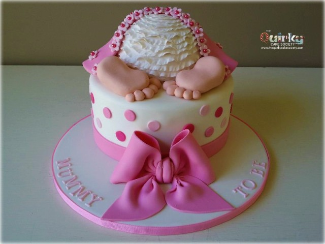 Baby Girl Bottom Cake