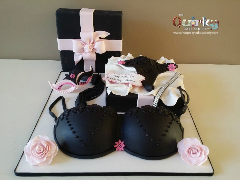 Lingerie Gift Box Cake The Quirky Cake Society