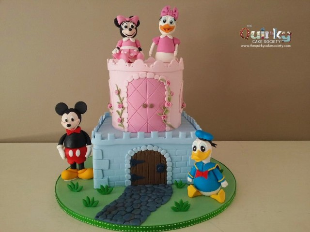 Disney castle Baby Shower Cake