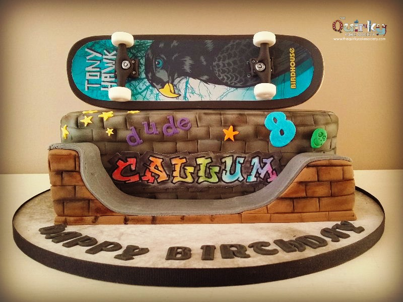 Admirable Skateboard Cake The Quirky Cake Society Funny Birthday Cards Online Elaedamsfinfo
