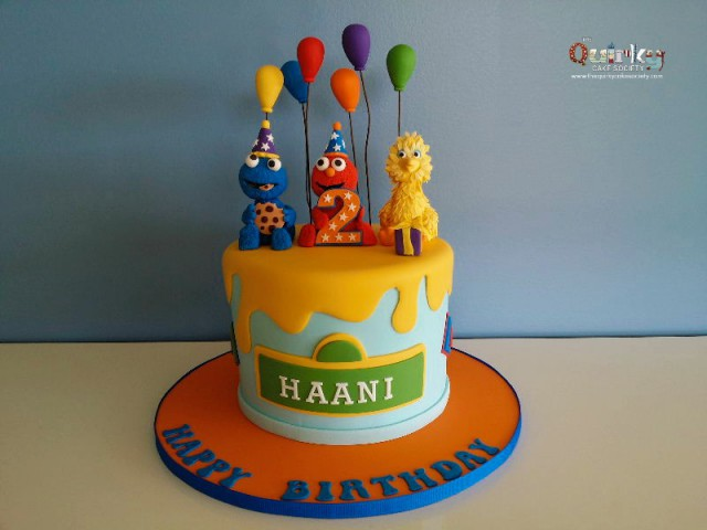 Sesame Street 2nd Birthday Cake