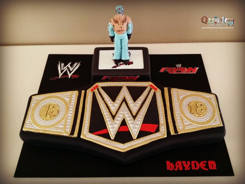 Wwe Wrestling Belt Cake The Quirky Cake Society
