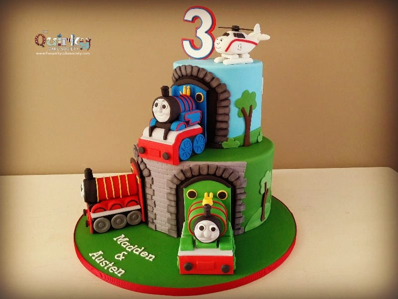 Tremendous Thomas And Friends Cake The Quirky Cake Society Funny Birthday Cards Online Fluifree Goldxyz