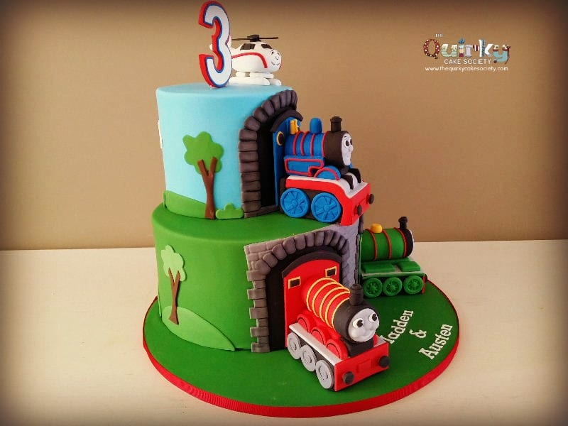 Incredible Thomas And Friends Cake The Quirky Cake Society Funny Birthday Cards Online Fluifree Goldxyz