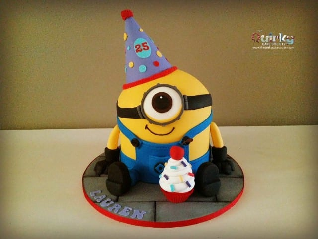 Party Hat Minion Cake