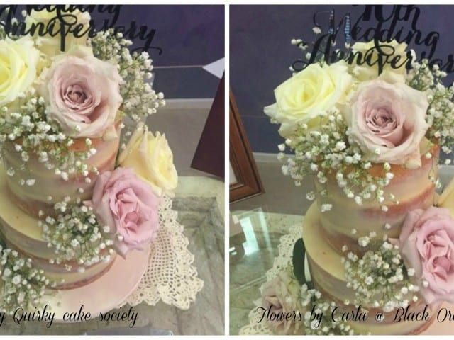 Rose scented Baby breath Naked Cake