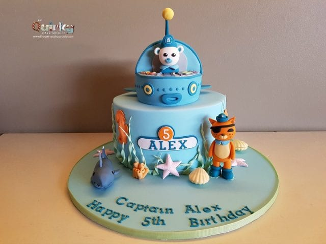 Octonauts Gup with Whitetip shark Cake