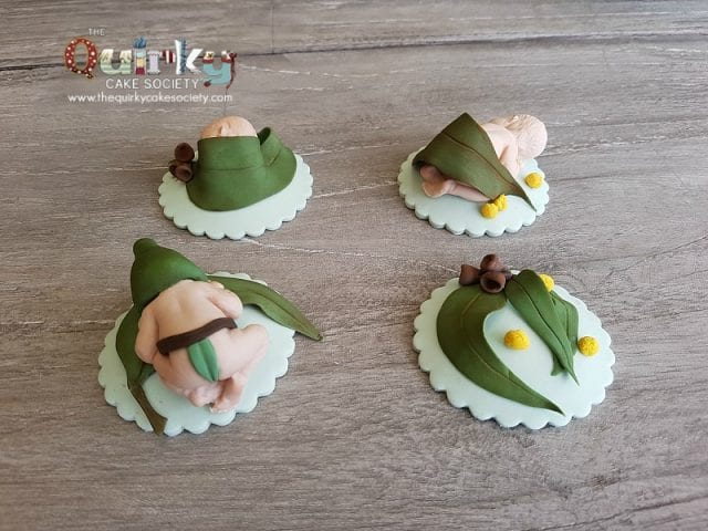 Gumnut Baby Cupcake Toppers