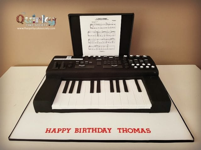 Electric Keyboard Cake
