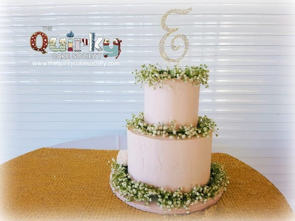Baby's Breath Pink Rustic cake