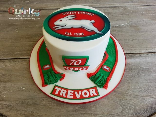 South Sydney Rabbitohs Scarf cake