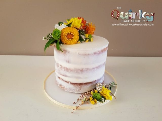 Yellow Floral Naked Cake