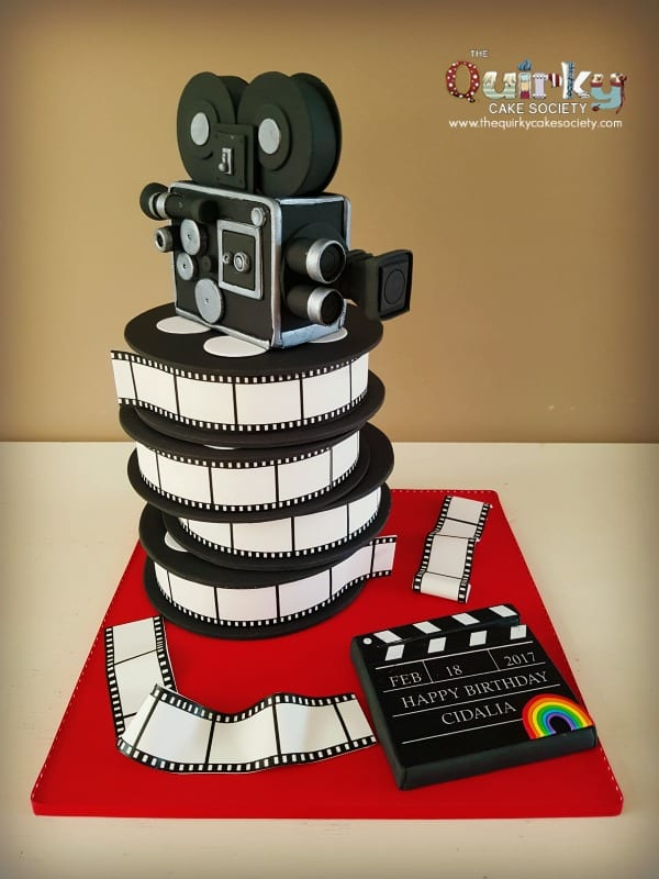 Groovy Vintage Movie Camera Cake The Quirky Cake Society Funny Birthday Cards Online Barepcheapnameinfo