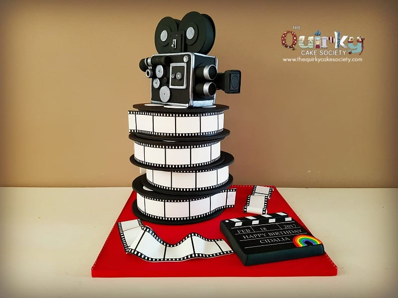 Astounding Vintage Movie Camera Cake The Quirky Cake Society Funny Birthday Cards Online Bapapcheapnameinfo