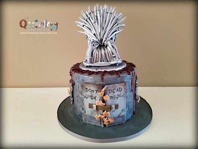 Walking Dead and Game of Thrones Cake