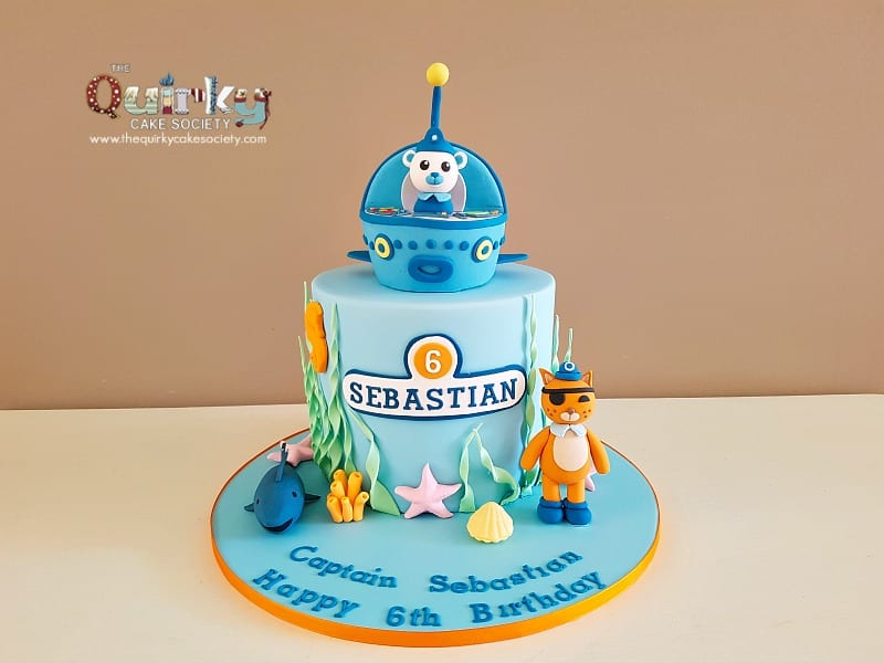Cool Octonauts Cake The Quirky Cake Society Funny Birthday Cards Online Alyptdamsfinfo