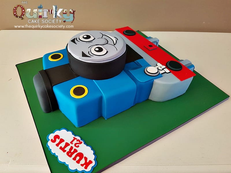Sensational Thomas Tank Engine Front Cake The Quirky Cake Society Funny Birthday Cards Online Eattedamsfinfo