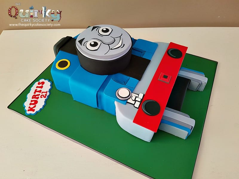 Magnificent Thomas Tank Engine Front Cake The Quirky Cake Society Funny Birthday Cards Online Eattedamsfinfo