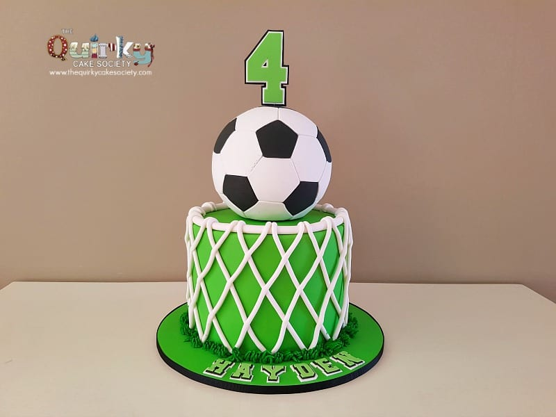 Groovy Soccer Ball Cake The Quirky Cake Society Funny Birthday Cards Online Overcheapnameinfo
