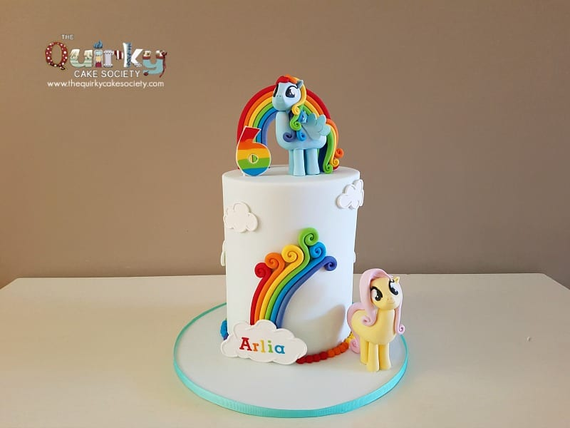 Fantastic Rainbow Dash And Flutterfly My Little Pony Cake The Quirky Cake Funny Birthday Cards Online Eattedamsfinfo