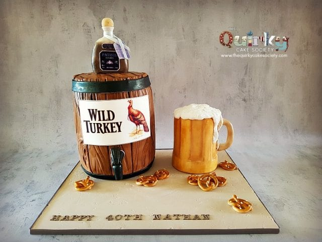 Wild Turkey Barrel Cake