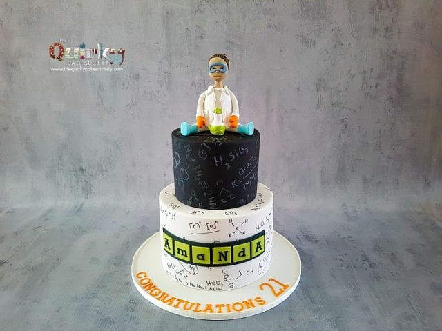 Scientist/Chemistry cake