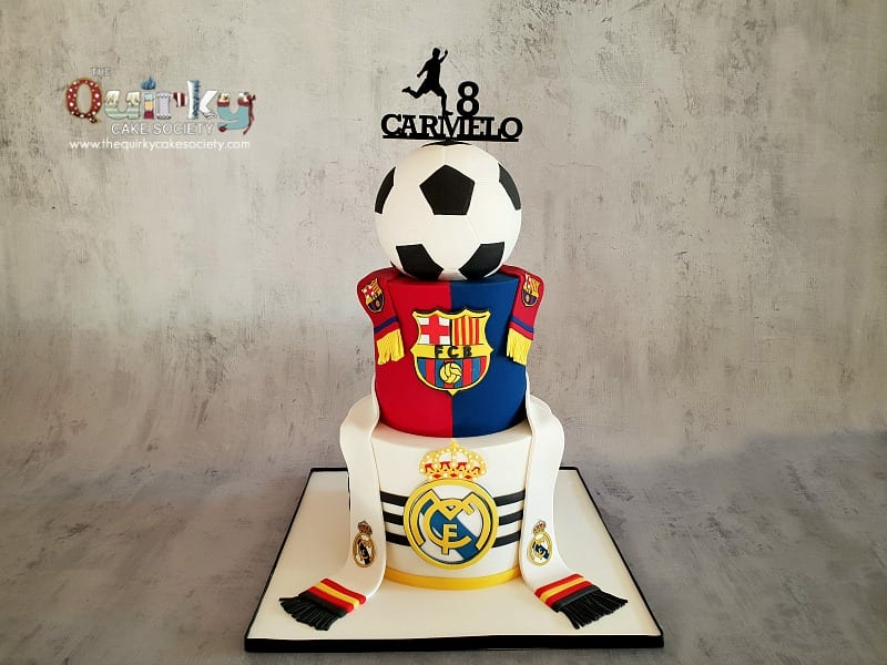Outstanding Barcelona Vs Real Madrid Cake The Quirky Cake Society Funny Birthday Cards Online Elaedamsfinfo