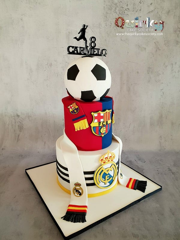 Incredible Barcelona Vs Real Madrid Cake The Quirky Cake Society Funny Birthday Cards Online Elaedamsfinfo