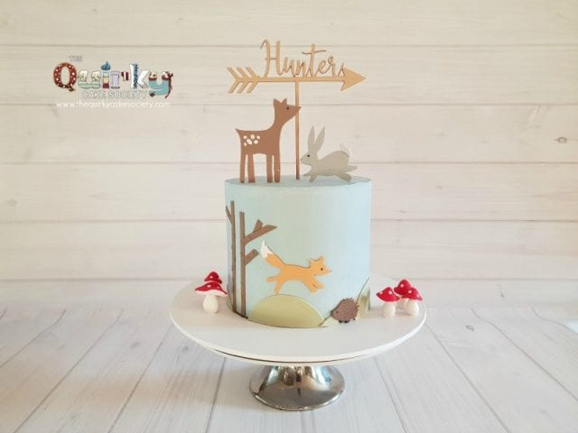 Woodlands Creature Buttercream cake