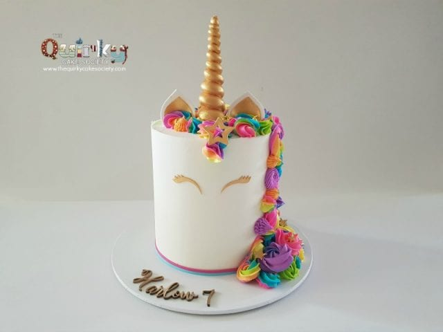 Unicorn Rainbow buttercream Cake