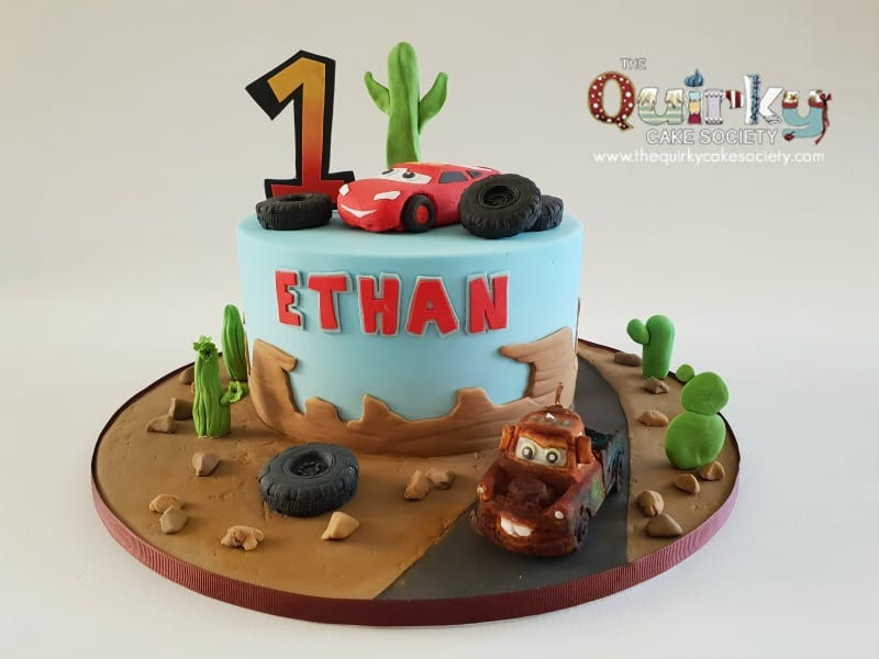 Fantastic Lightening Mcqueen And Mater Cake The Quirky Cake Society Funny Birthday Cards Online Kookostrdamsfinfo