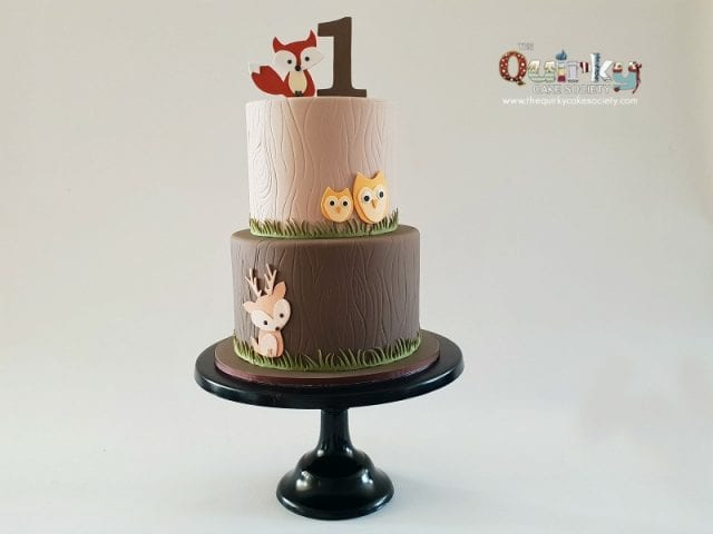 Mr Fox woodland cake