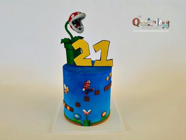 Super Mario Buttercream cake