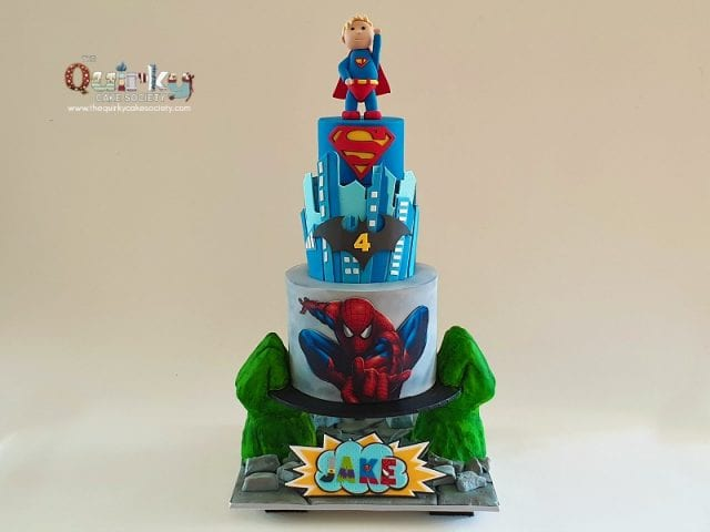 Super Hero Gravity Cake