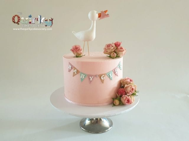 Stork Buttercream Cake