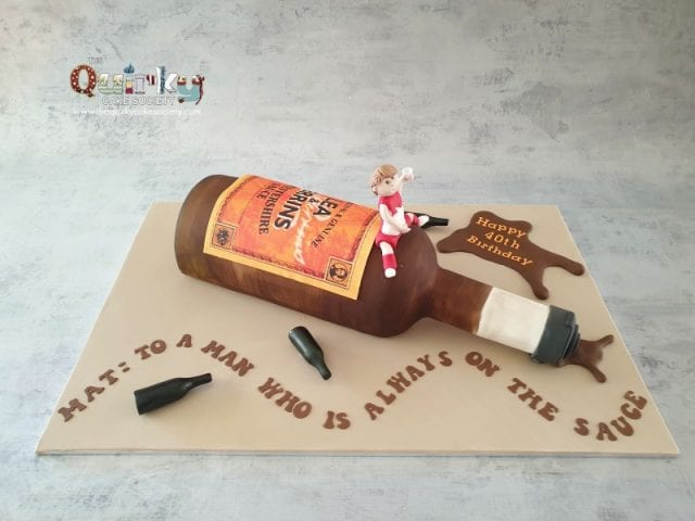Worcestershire Sauce Bottle Cake