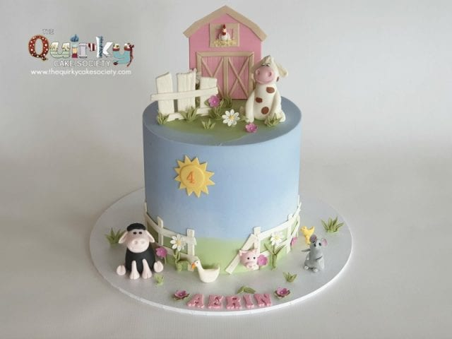 Farm yard buttercream cake