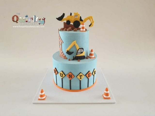 Construction Vehicles Buttercream Cake