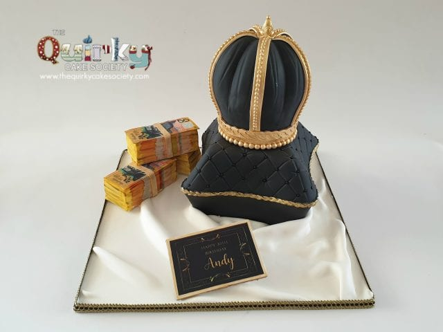 Crown and Pillow Cake