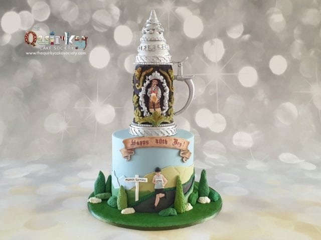 Beer Stein and Marathon runner cake