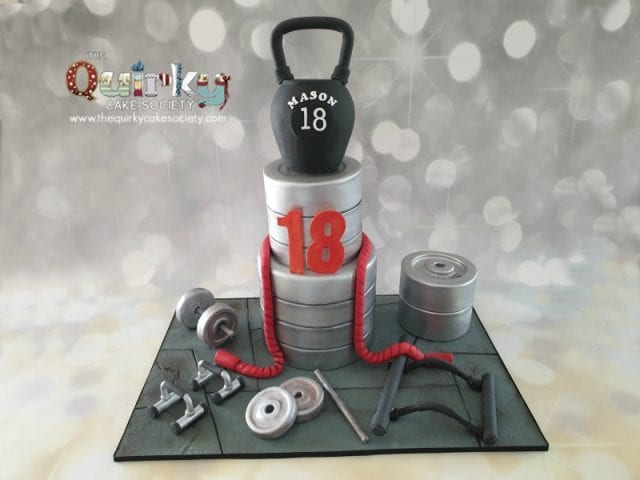 Weights and crossfitness cake