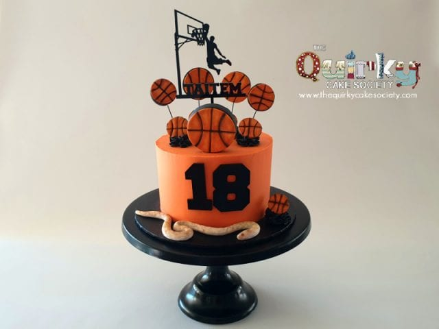 Basketballer Buttercream Cake